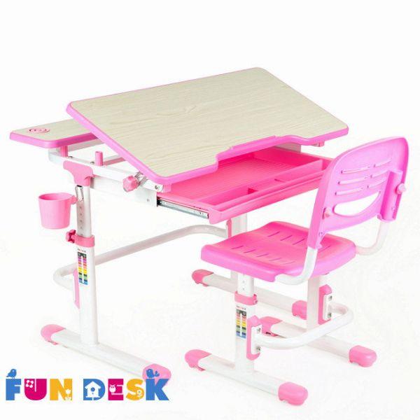 Растущая парта и стул Fun Desk Lavoro Pink