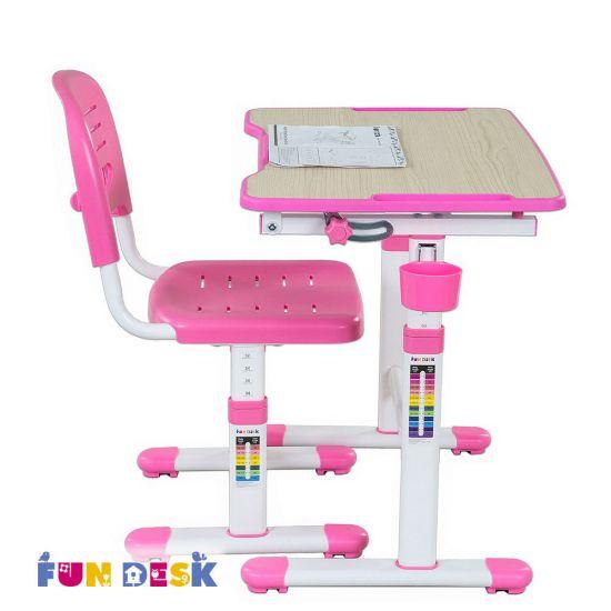 Растущая парта Fun Desk Piccolino II Pink