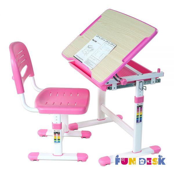 Растущая парта Fun Desk Piccolino Pink