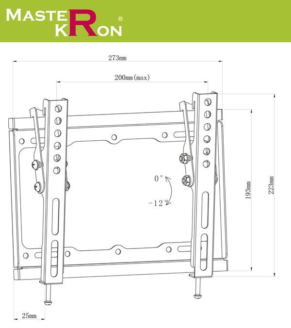 Кронштейн для телевизора MasterKron PLN07-22T