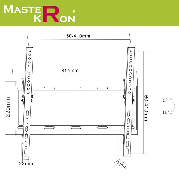 Кронштейн для телевизора MasterKron PLN07-44T