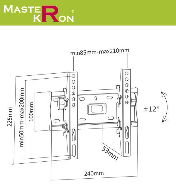 Кронштейн MasterKron PLN08-22T