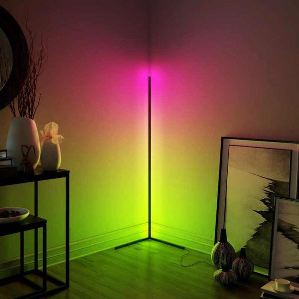 Дизайнерский угловой светильник - торшер RGB Electriclight
