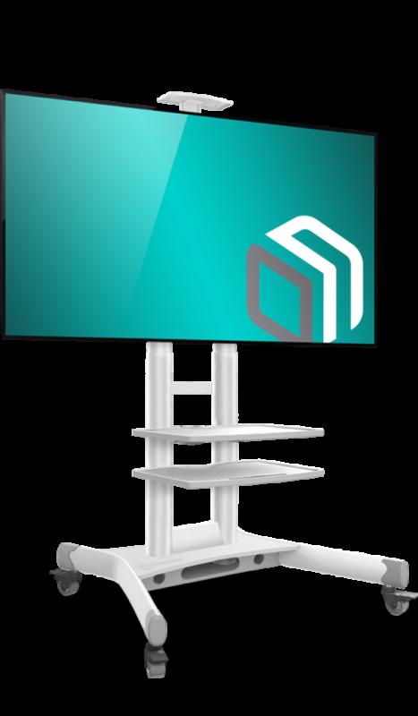 Мобильная стойка для телевизора ONKRON TS1552 White